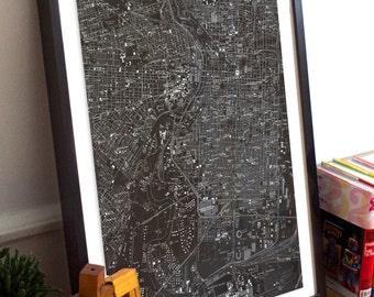 Philadelphia, PA Map Poster 11x17 18x24