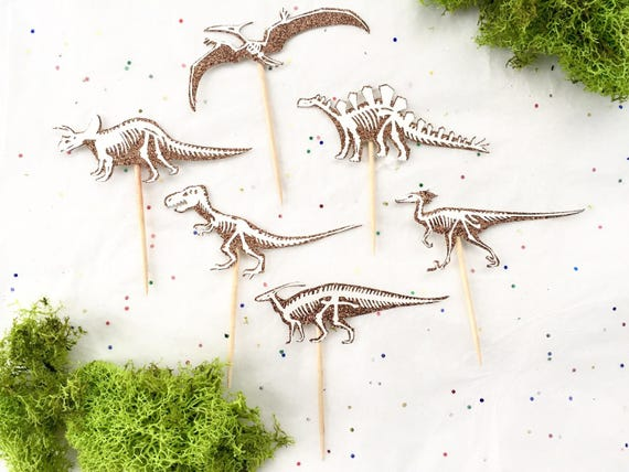 Dinosaur Cupcake Toppers