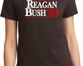 Ladies Reagan Bush 1984 Shirt REAGAN84-LPC61