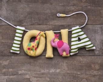 Felt name banner, nursery decor, nursery name banner, personalized gift, felt letters, baby gift, name garland, custom made banner