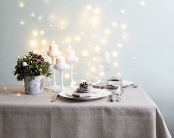 Grey Tablecloth made of natural and softened linen
