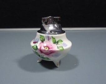Hand Painted Bone China Floral Lighter Made in Japan