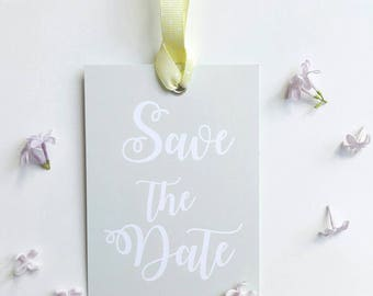 Save the Date Tag sage/light green