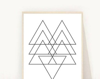 Geometric Poster, Modern Minimalist, Geometric Art Print, Printable Art, Geometric Art, Wall Decor, Scandinavian Art, Wall Decor, Wall Art