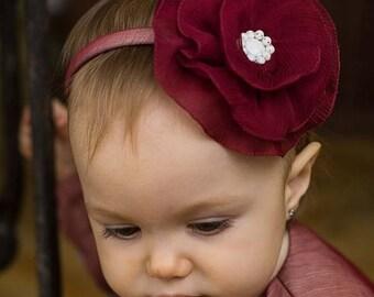 Aileen Baby Headband, First Birthday Headband, Flower Girl Headband, Christening Headband, Flower Headband, Special Occasion Headband