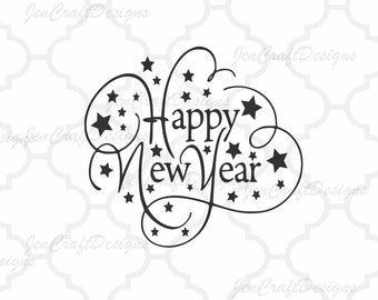 New Year SVG,EPS Png DXF,digital download files for Silhouette Cricut, vector Clip Art graphics Vinyl Cutting Machines