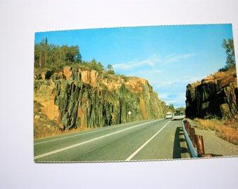 Lake  Superior Cirsle Route postcard/ Ontario Postcard / vintage Highway Postcard/ vintage roads/ trans Canada Highway Postcard
