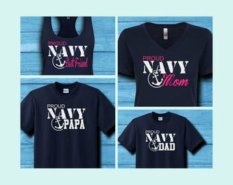 Proud Navy Family Shirts