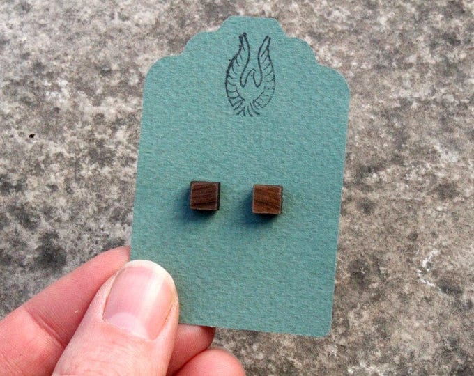 Square Walnut Wood Studs