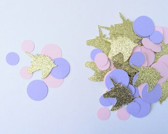 Unicorn Confetti, Unicorn Party Supplies, Unicorn Birthday Party, Unicorn Party Decorations, Pink and Purple Confetti, Princess Birthday