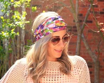 BUY 2 get 1 FREE!! Art Girl Yoga Headwrap, Fitness Workout Headband, Running Headband, Top Selling Item, Boho Headband, Yoga Headband
