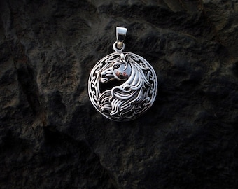 Sterling Silver Horse Head Pendant - #320