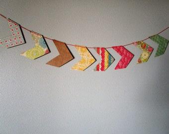 Chevron paper banner, paper bunting, arrow banner, multi color, home decor, party decor, arrow garland, photo prop