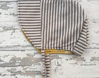 Baby Bonnet, Baby Sun Bonnet, Baby Sun Hat, Reversible Bonnet, Baby Hat, Sun Bonnet, Bonnet with Brim, Lined Bonnet, Spring Bonnet, Bonnet