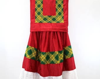 Traje de fiesta (TSC2), Satín brocado brillante, estilo mexicano, vintage. Frida Kahlo clothing
