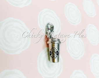 Charm - Coffee Cup Mini Clip On Charm (Silver Tone)