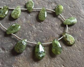 Vesuvianite, Idocrase, Rustic gems,briolettes, semi precious, beads