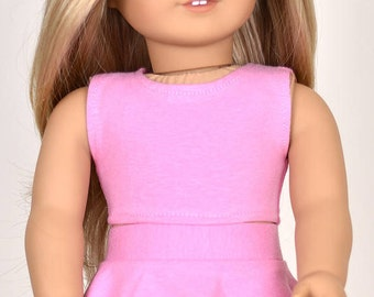 Top Color pink 18 inch doll clothes American made doll clothes
