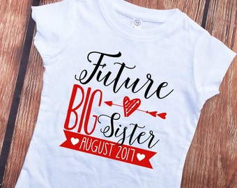 Future Big Sister Shirt - Matching Headband Set - Big Sister Outfit - Big Sister - Announcement Shirt - Big Sister to Be - Girls' Shirts
