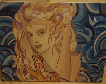 Original Canvas Painting by Giuliana - Sirena
