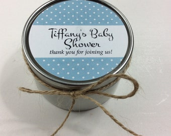 Set of 12- 6 oz baby shower candle favors, wedding favors, custom favors, rustic favors, soy candle favors, bridal shower candle favors