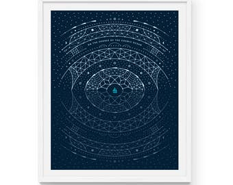 "Carl Sagan Cosmic Shores Art Print | 16"" x 20"" and 8"" x 10"" 