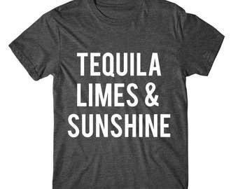 SOFT! Tequila Limes & Sunshine, Womens Graphic Tee, Womens Graphic Tshirt