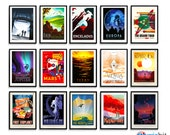 NASA Poster Exoplanet Travel Prints - Pick and Mix Selection - FULL set JPL / Visions of the Future / Space Art / Wall Art - Sale