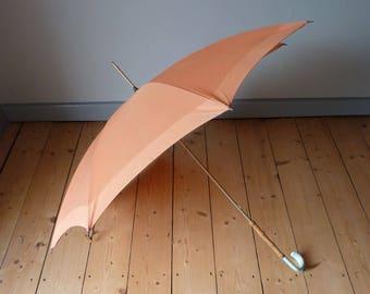 Vintage umbrella, umbrella, umbrella, with bamboo stick, parasol old made in the UK,