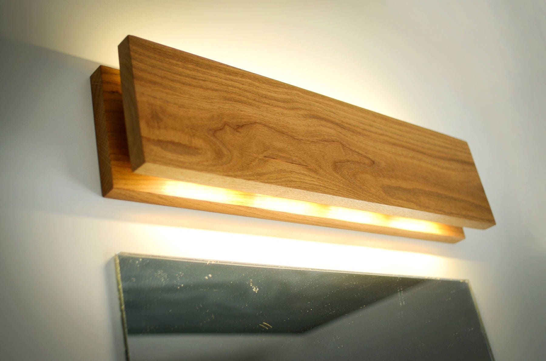 Wall lamp sc90 handmade oak sconce wooden sconce wood details sc sconce wooden wall amipublicfo Images