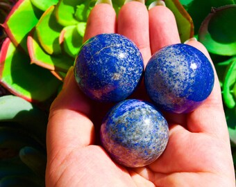 Beautiful Lapis Lazuli Sphere Ball, Throat Chakra, Brow Chakra, Mineral Specimens,Reiki Chakra, Sphere ball, Crystal Quartz,Stone of Loyalty