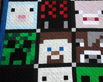 Minecraft Creeper Character Twin Quilt