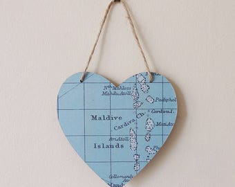 Heart Map Wall Hanging - Choose your Location