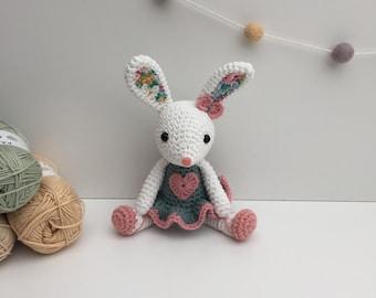Ballerina Bunny, Unique Gift, Baby Shower Gift, Birthday Gift, Crochet Bunny, Stuffed Animal, Newborn Gift