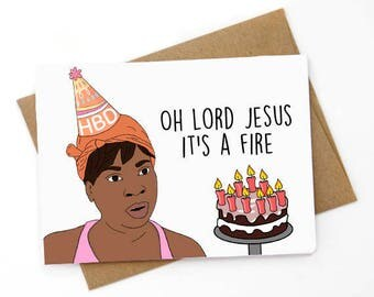 Funny  Birthday Card, Sweet Brown, Sarcastic Card, Card for boyfriend, Card for Girlfriend, Ain't nobody got time for that.