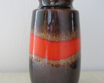 Vintage Scheurich Keramik Modernist Fat Lava West Germany Vase 242-22