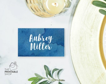 Watercolour place cards, Beach wedding place cards, Watercolor wedding stationery, Table place cards, Wedding decor, Wedding printables