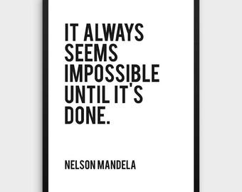 Nelson Mandela | Learning Quote, Leader Quotes, Learning, Teaching, Classroom Decor, Motivational Print, Typographic Print, Inspirational
