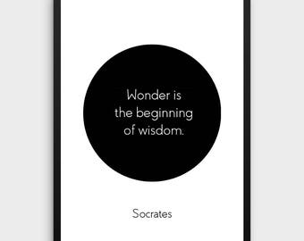 Literature Poster | Socrates, Philosophy, Learning Quote, Books, Reading, Learning, Books, Quotes, Inspirational, Literature, Book Decor