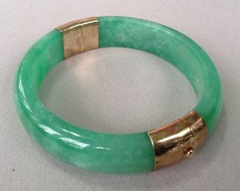 Jade 14K GP Bangle Bracelet