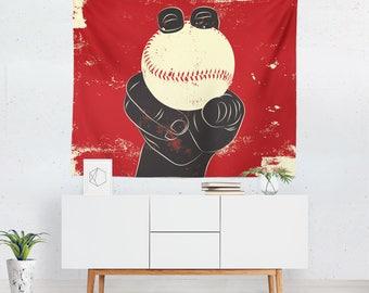 Baseball Gift | Baseball Tapestry | Baseball Wall Tapestry | Baseball Wall Décor | Baseball Wall Art | Baseball Art | Baseball Décor