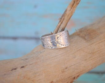 Antique Sterling silver spoon ring Antique ring sterling silver ring oval spoon ring vintage sterling spoon ring wrap ring mono RIY - 1250