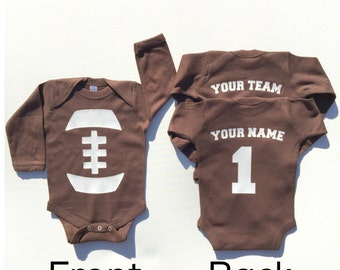 Father's Day Baby Outfit, Baby Football Outfit, Personalized Baby Football Outfit