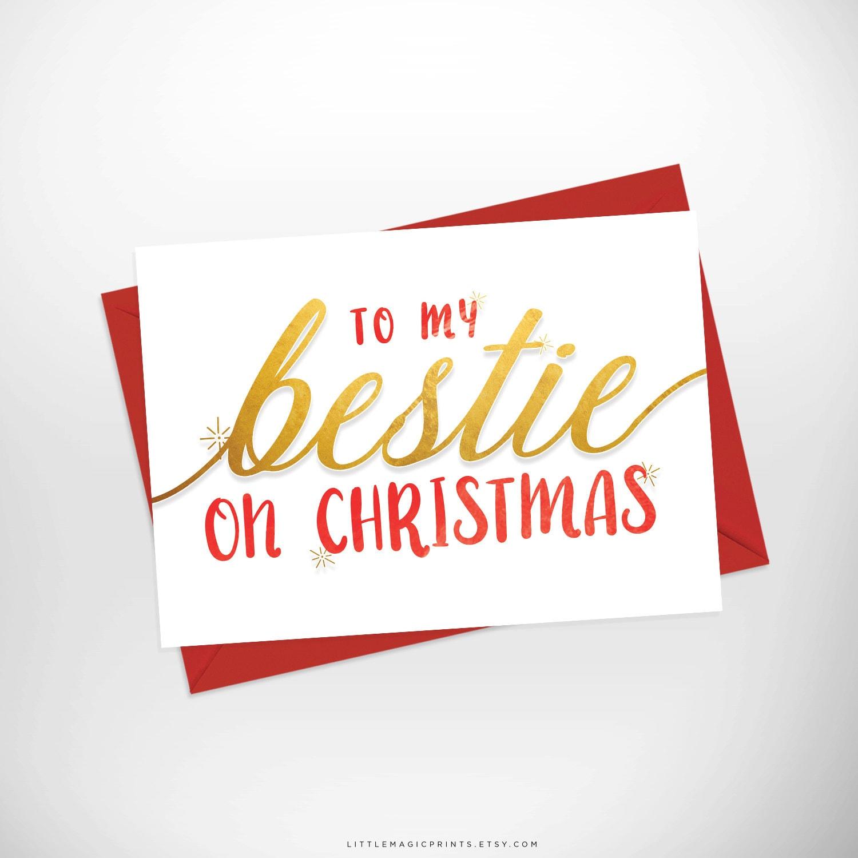 bestie christmas card printable to my bestie on christmas