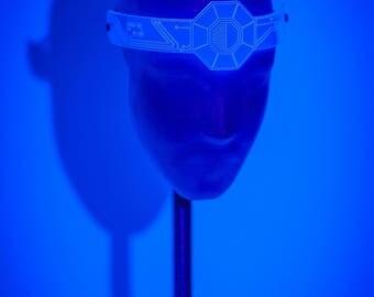 Android Headdress UV Blue