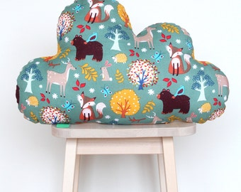 Clouds cushion forest animals