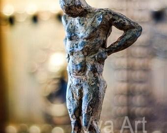 Thinking Man Sculpture Bronze man thinking vintage home decor thinker statue man art the thinker mid century modern male sculpture