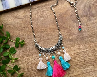 Boho Necklace | Fringe Necklace | Tassel Necklace | Boho Fringe Necklace | Tassel Jewelry | Festival Jewelry | Boho Jewelry | Gift for Her