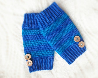 Crochet baby leg warmers/Blue and light blue baby leggings/Baby leg warmers/Wool leg warmers/Beautiful gift/Baby leggings/ready to ship