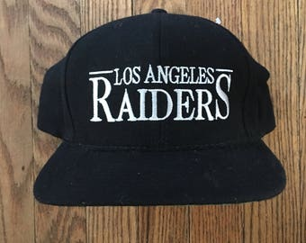Vintage Los Angeles Raiders NFL Snapback Hat Baseball Cap